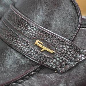 Nwd NEW Salvatore Ferragamo EXOTIC Trim Loafers